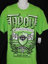 Tapout Tee Shirt Mens Size L Green Boxing UFC MMA Wrestling Sportswear New Logo