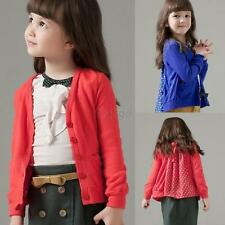 Toddler Baby Kids Girls Spring Autumn Button Up Knitted Coat Outerwear Jacket