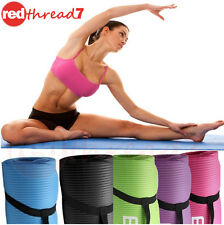 Yoga Mat Extra Thick 10mm NBR Gym Pilate Fitness Non Slip FREE Strap