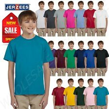 Jerzees Youth Short Sleeve 5 oz 100% Cotton HiDENSI-T  XS-XL T-Shirt M-363B