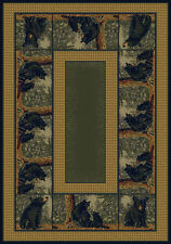 Hautman Brothers Rugs Hautman Bear Family Blue/Gold Area Rug