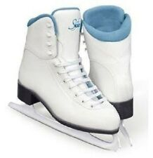 New Jackson Ultima GS184 Youth SoftSkate Ice Figure Skates w padded Blue Lining
