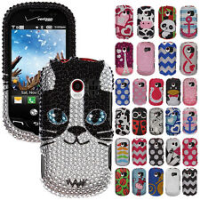 For LG Extravert VN271 Design Bling Crystal Gem Hard Skin Protector Case Cover