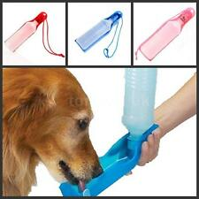Travel Pet Dog Cat Water Feeding Drink Bottle Dispenser 500ml hot W7R0