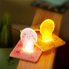 Portable Credit Card Size Wallet Purse Pocket LED Night Light Bulb Lamp