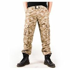 K16-4 Mens Comfortable Military Cargo Army Cotton Camouflage Work Pants Trousers