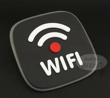 Acrylic WiFi Internet Window Door Decal Sticker Cafe Shop Sign Black