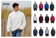 JERZEES Quarter Zip Cadet Collar Sweatshirt 50/50 Mens Fleece S-3XL 4528M