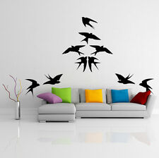 12x Vinyl Wall Decal Beautiful Bird, Flock Of Birds Decor Art Sticker Murals