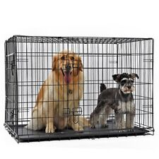 Pet Dog Cage Wire Folding Crate Dog Suitcase Exercise Playpen Exercise Kennel