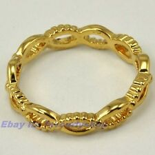 SIZE 7#,8#,9# ELEGANT TWIST CONTINUOUS RING 4mm2g 18K YELLOW GOLD PLATED FILL GP