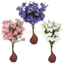 Artificial Rose 5-Head Blooming Flowers Bunch Rustic Country Wedding Party Decor