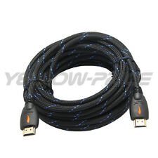30FT HDMI Cable Pack, Advanced Braided HDMI 1.4 Cable Ethernet 3D 1080P for HDTV