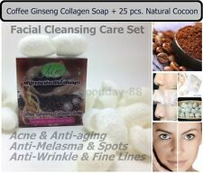 Coffee Ginseng Collagen SOAP with 25 Natural Cocoon-Acne & Anti Melasma-Wrinkle