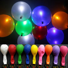 Mixed Colors LED Light Up Latex balloons Decoration Wedding Party Birthday