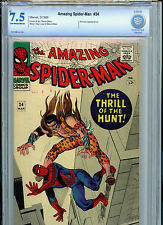 Amazing Spider-man #34 Silver Age Marvel Comics CBCS 7.5 VF- Check 1966
