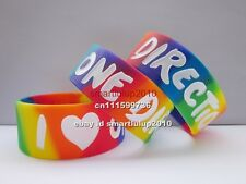 25pcs/lot I love One Direction 1D wristband,promotion gift,silicone bracelet