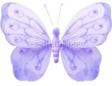 Bugs-n-Blooms Butterfly Hanging Shimmer Nylon 3D Wall Decor