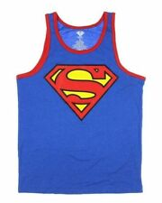 Licensed DC COMICS Superman Reversible Tank Top S-L Blue/Red Two Designs in One