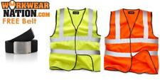 Standsafe Reflective High Visibility Vest Waistcoat Orange FREE BELT