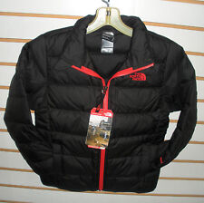 THE NORTH FACE BOYS ANDES DOWN WINTER JACKET- #CHQ6- BLACK/ FIERY RED - XS