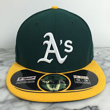 Oakland Athletics Home 59fifty MLB 100% Authentic New Era Fitted caps hats