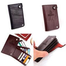 Mens Credit ID Card Holder Slim Coin Bifold Faux Leather Wallet Purse Bag CIK
