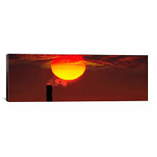iCanvas Panoramic 'Smoke Stack in Sunset' Photographic Print on Canvas