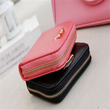 High quality Mini Wallet  Bag Leather Card Holder Zip Coin Purse Clutch Handbag