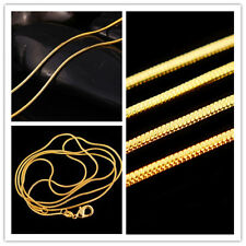 Gold Plated Lots Fashion Necklace Chain HOT Snake 16-30 inch Elegant Wholesale