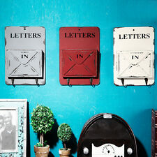 Country Wood Mail Letter Rack Key Holder Wall Storage Creative Home Decor Hook