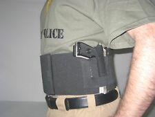 Tactical Belly Band Gun Pistol Concealed Weapon ZIPPER POCKET Holster LARGE