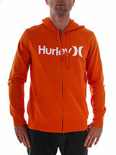 Hurley Sweat Jacket Hoodie One and one Only orange Zipper Logo