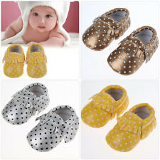 Baby Tassel Soft Sole Leather Shoes Infant Boy Girl Toddler Moccasin 0-30 Months