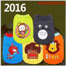 Hot! 6 corlors Pet Clothes Dog Puppy vest Costume Cartoon dog clothes XXS-XL