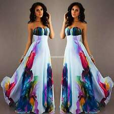 Hot Boho Maxi Floral Dresses Women Sundress Ball Party Cocktail Long Beach Dress