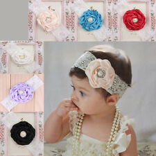 Fashion Lace Pearl Flower Headband  Hair Band Accessories Kid Girl Baby Headwear