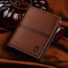 Chic Men PU Leather Bifold ID Card Holder Wallet Billfold Slim Clutch Purse Gift