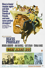 """""""STAY AWAY ,JOE"""" FEATURING ELVIS PRESLEY . Vintage Movie Poster A1A2A3A4Sizes"""