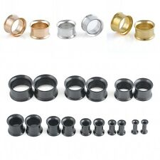 1Pair Stainless Steel Screw Ear Gauges Flesh Tunnels Plugs Stretchers Expander