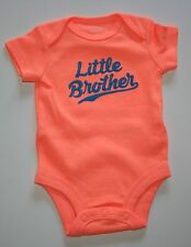 NEW Carter's Little Brother Neon Orange Bodysuit NWT Newborn 3m 6m 9m 12m 18m 24