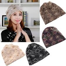 Fashion Womens Summer Chemo Bandana Beanie Turban Head Wrap Lace Floral Hat Cap
