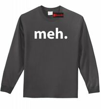 Meh Funny Mens Long Sleeve T Shirt TV Show Humor Gamer Homer Geek Z1