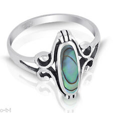 Abalone Ring - Oval Filigree Genuine Sterling Silver Ring