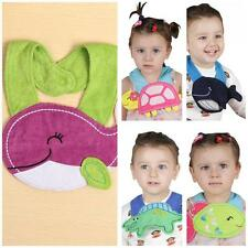 Baby Infant Toddler Kids Waterproof Cartoon Lunch Bibs Animal Saliva Towel E5P0