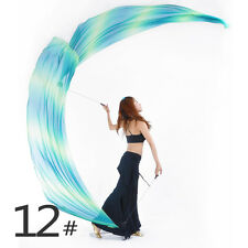 Gradient Colorful Belly Dance Costume Imitation Silk Veil Poi 1 PC 31 Colours