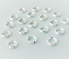 Sterling Silver Split Jump Rings 8mm Double Looped, QTY 5, 10, or 20, USA Seller