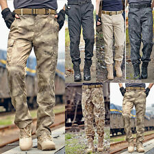 Mens Tactical Military Army Cargo Camo Combat Work Pants Pocket Trousers G145