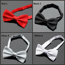 Fashion  Hot Adjustable Formal Tuxedo Wedding Mens Solid Color Bow Tie Bowtie