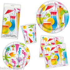 Tropical Summer Cocktails BBQ Party Plates Cups Napkins Tableware Listing